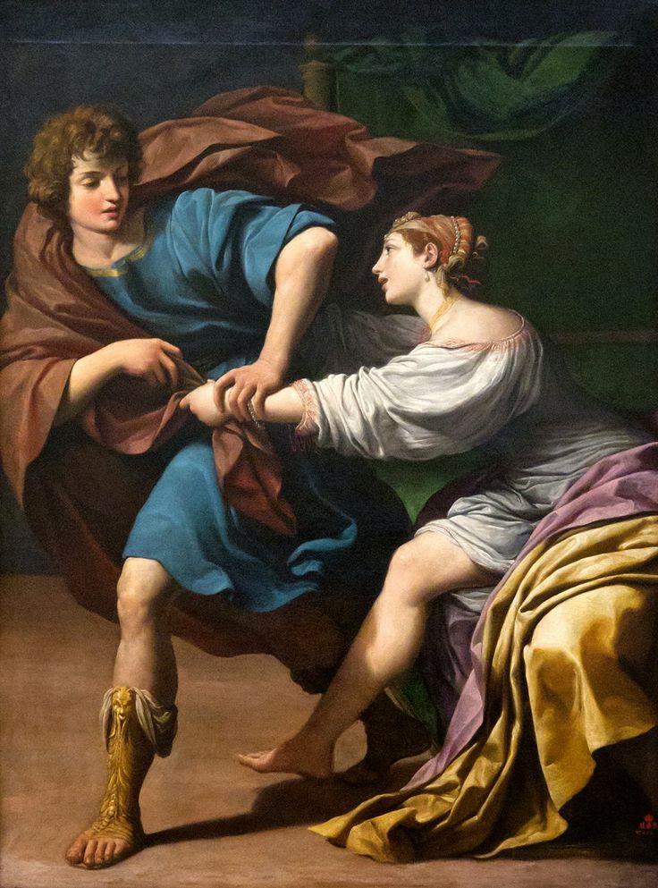 Lionello Spada (Italian, 1576-1622), Joseph and Putifar's Wife, early 17th c., Palais des Beaux-Arts de Lille, France