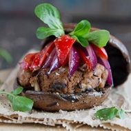 These Mushroom Burgers with Mushroom and Lean Beef Patties make a great accompaniment to a braai