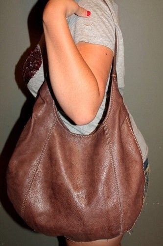 Vintage Lucky Brand Brown Leather Large Hobo Tote Shoulder Slouch Purse Bag Boho Ebay My Style Pinterest Bags Purses And Handbags