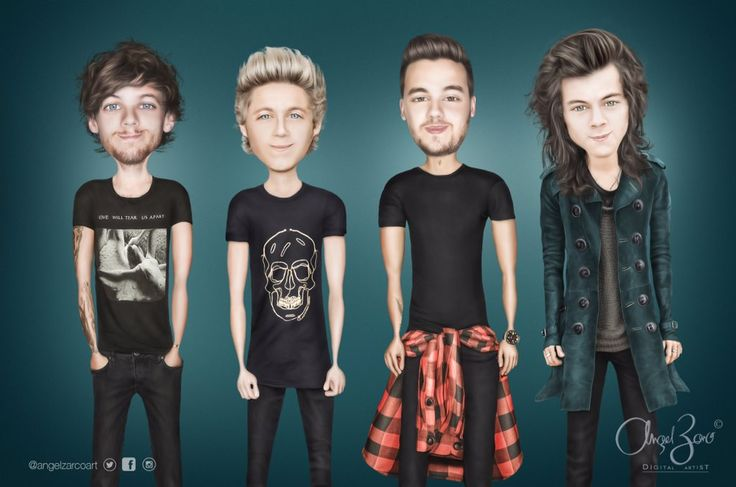 Caricatura de One Direction hecha por Angel Zarco #onedirection #1D #LiamPayne #1DLiam #NiallHoran #1DNiall #harrystyles #1DHarry #LouisTomlinson #1DLouis #angelzarcoart #angelzarco #quierolacaricaturade