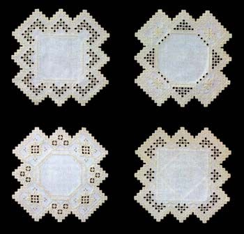 Borders to Grow brings you a collection of four Hardanger doilies with a different variation to each one.