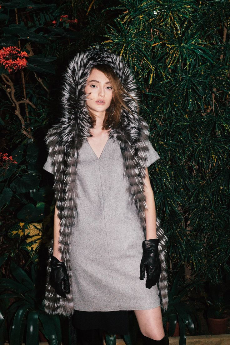 Chilly days will get better with this long fashionable fox vest
