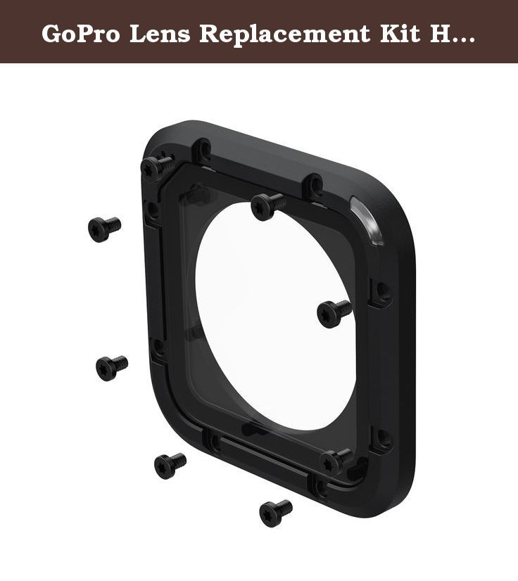 GoPro Lens Replacement Kit HERO Session. GoPro Lens Replacement Kit HERO/HERO5 Session::Don't sweat the small stuff. GoPro has you covered with the Lens Replacement Kit for its line of HERO products. This kit contains everything you need to replace the glass lens cover on your Session. Includes one replacement lens cover, a seal, screws and a screwdriver-everything you need for hassle-free repairs.