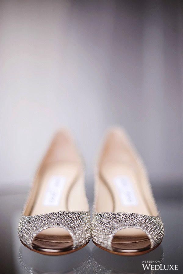 caad1d890 Pretty little peep toe   WedLuxe #Shoes #Pumps #Wedding #Sparkle #PeepToe # Bridal #Bride #Pretty
