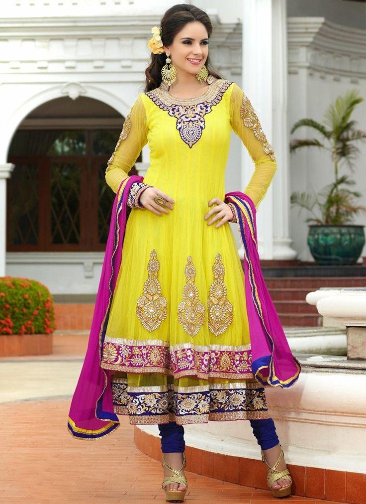 Anarkali designer suits online shopping usa, Latest anarkali salwar kameez designs 2013, Indian anarkali salwar kameez online collection
