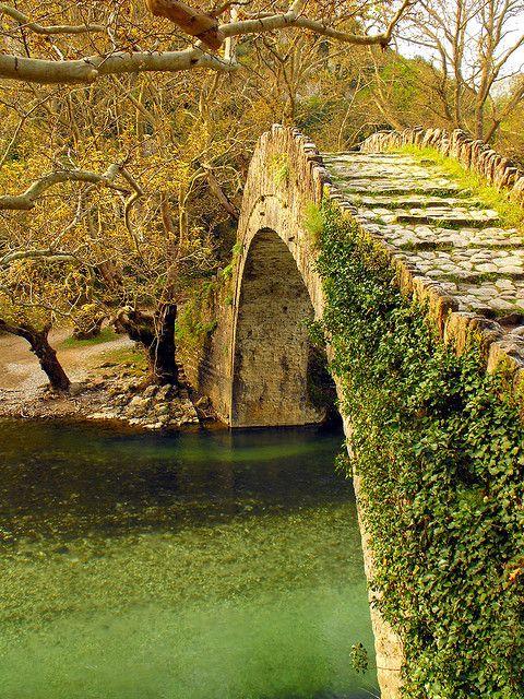 Voidomatis Bridge in Mountainous Epirus , Greece