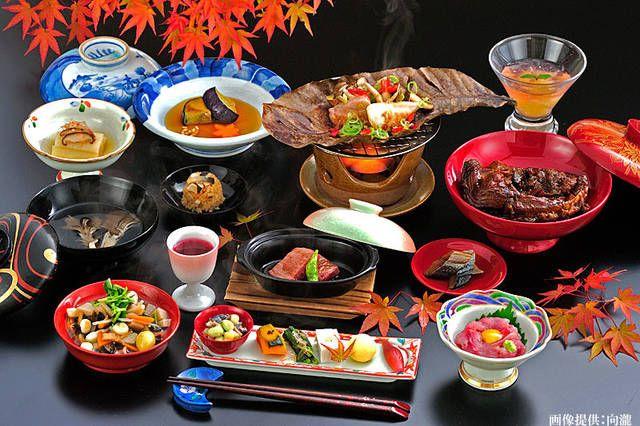 向瀧の夕食「秋の献立・全16品」