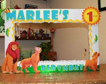 Disney Lion King Photo Booth Props  Lion King by LetsGetDecorative