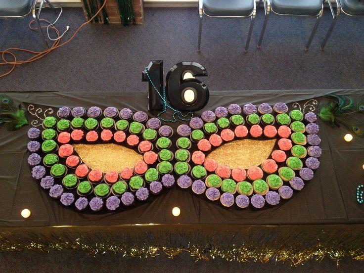 Mardi Gras cupcake mask by Black Tie Cupcake Company