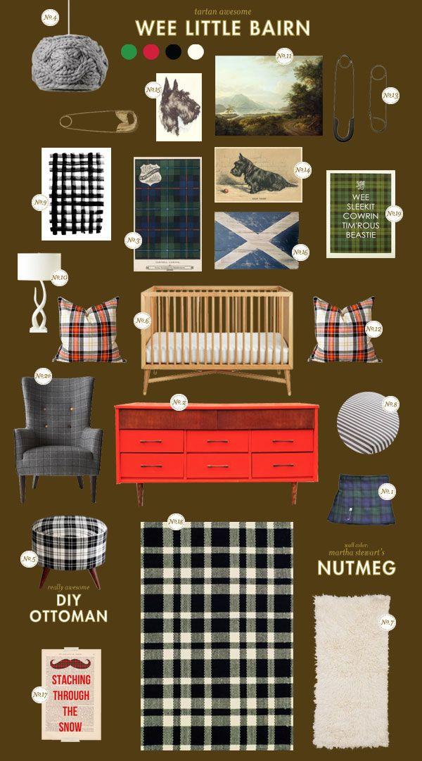 wee-little-bairn baby nursery inspiration board