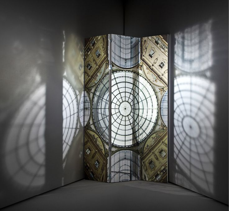 galleria vittorio emanuele miro folding screen by francesco bolis for driade - mirror coated on both sides for fabulousness