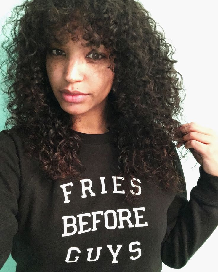Curly Bangs Naturally Curly Hair Pinterest