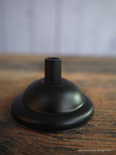 rosace metal avec passe cable noire