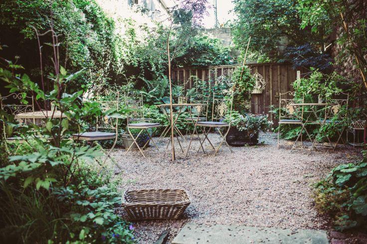 Fotografering på Okéns innergård