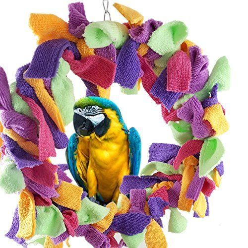 A warm comfortable place to hide snuggle, inside diameter :8.6 inches BRING EXTRA LIFE TO YOUR PARROTS HABITAT!  BIRDS CAN HAVE MANY BENEFITS FROM THIS PREENING RING BY BITTY BIRD BRAINZ SUCH AS: ...