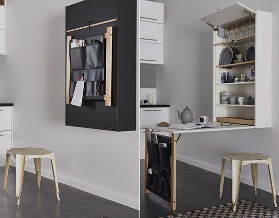 enge und kleine r ume einrichten mit modernem klapptisch m bel pinterest kleine r ume. Black Bedroom Furniture Sets. Home Design Ideas