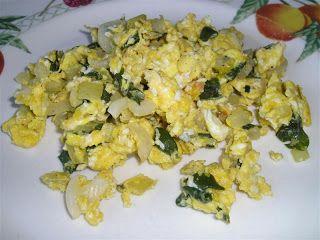 Purslane egg scramble