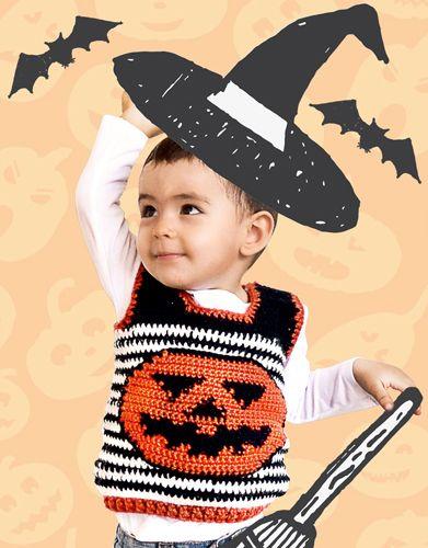Halloween crochet pattern pumpkin waistcoat for kids. Extra 2 Autumn / Winter | 410