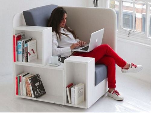 One day this will be tucked in the corner and people will call it a living room! OpenBook Lounge Chair [SOURCE]