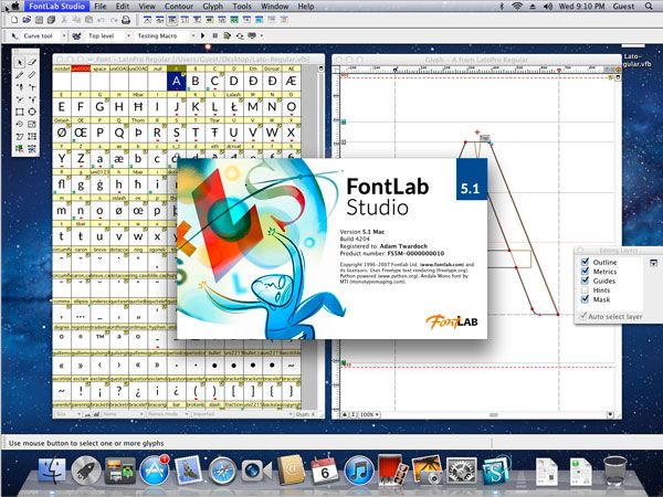 FontLab Studio is the next-generation a digital font editor from Fontlab Ltd. that allows the designer to create professional-level fonts from start to end.  FontLab Studio is a versatile font editor ...