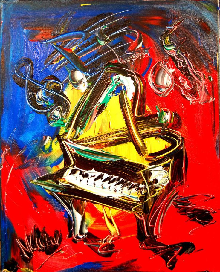M.Kazav Impressionism PIANO Abstract  Contemporary Fine Art Original Painting #Expressionism