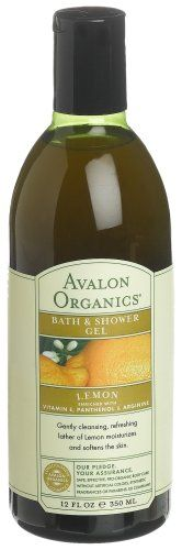 Avalon Organics Bath  Shower Gel Lemon 12Ounces Pack of 3 * Details can be found by clicking on the affiliate link Amazon.com.