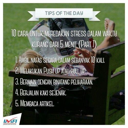 Jangan biarkan stres menurunkan kinerja Anda :) #Tips #IndomobilFinanace