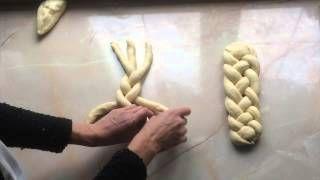 pletení vánočky ze 4 pramenů - YouTube