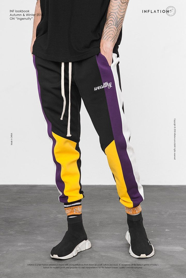 13df107b48014c Multi-Color Sweatpants in 2019 | Sweatpants | Balenciaga speed trainer,  Sneakers fashion, Track pants mens