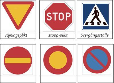 Trafikmärken -beställning