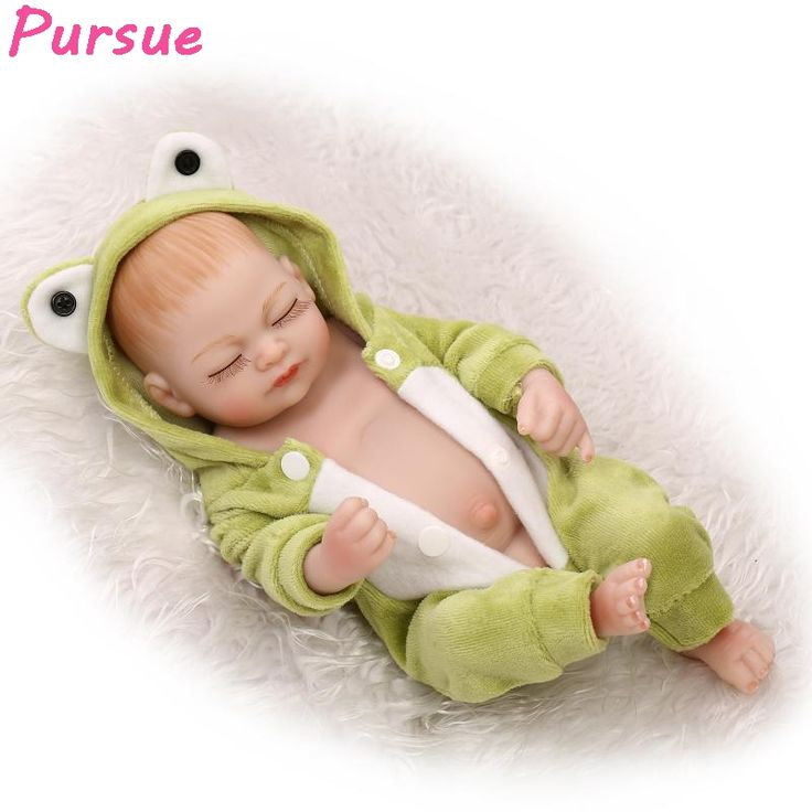 33.16$  Buy here - http://aih2z.worlditems.win/all/product.php?id=32759207975 - Pursue Full Body Silicone Reborn Sleeping Baby Lifelike Cute Newborn Boy Babies Doll Full Vinyl Doll Toy For Kids Gift 11inch