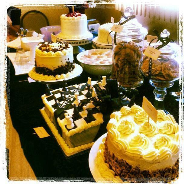 50th Birthday Party Dessert Table