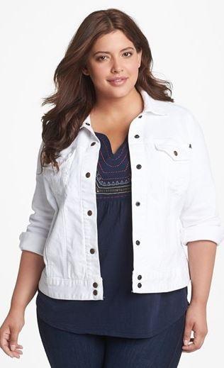 Plus Size White Jean Jacket - Xtellar Jeans