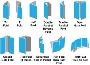 a brochure format