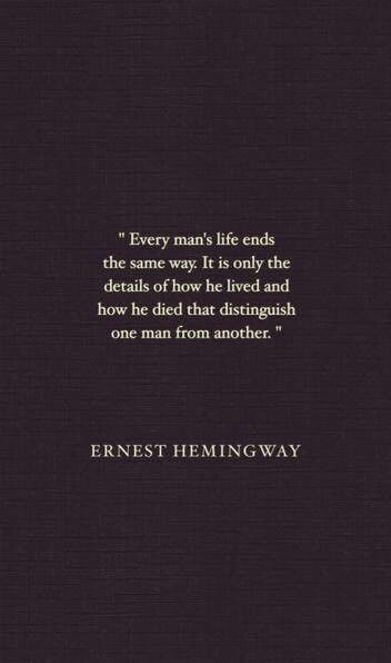 Ernest Hemingway Quotes On Death. QuotesGram