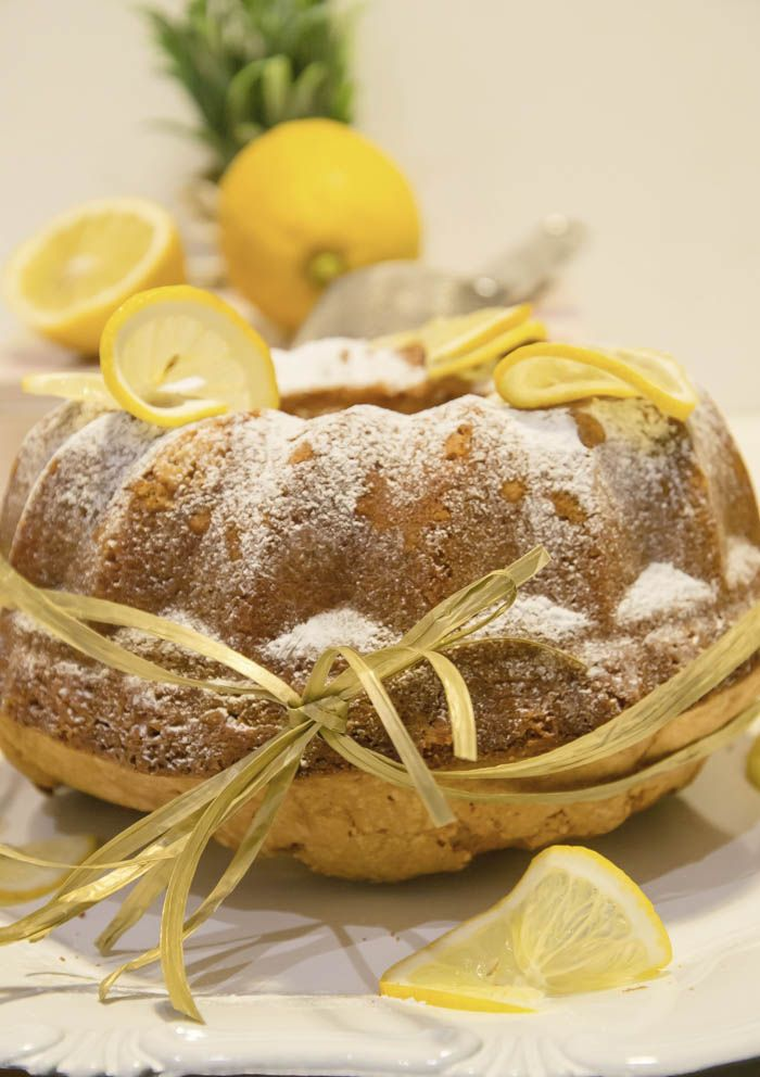 Lemon vanilla bundt cake