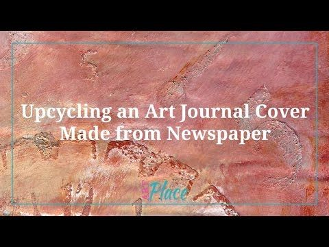 The techniques can be applied to any type of art and for this video, you'll learn how to upcycle an art journal cover. The art journal in this video was made out of newspapers.