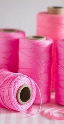 Bright Pink Thread #colorsoftheweek