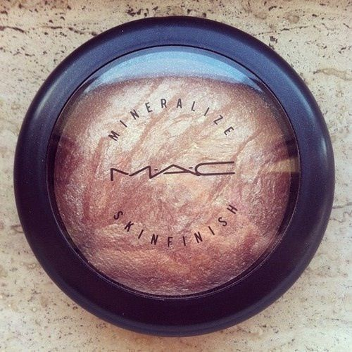"""every girl needs one of these in her makeup kit! mac's mineralize skin finish """"soft and gentle""""..it's the best highlighter!"""