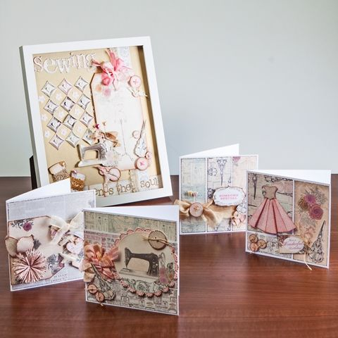 Craftwork Cards Paper Couture Kit- Our 'One Day Wonder' from 8am Thursday 8th May http://bit.ly/1qe6ta7