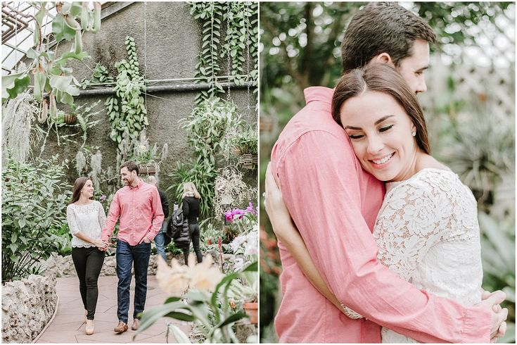 Greenhouse engagement photos at Lincoln Park Conservatory   Nicole Jansma Photography