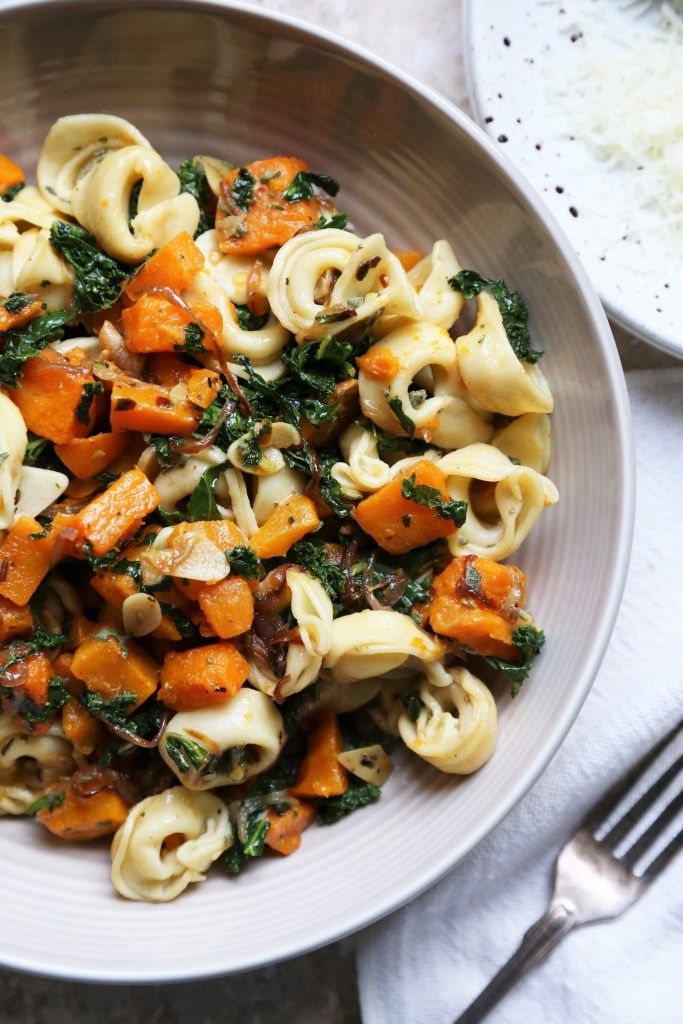 Warm Roasted Butternut Squash and Kale Tortellini Salad – Supper With Michelle