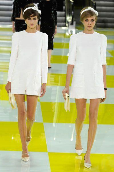 Chic lil' Louis Vuitton (SS13) bride.