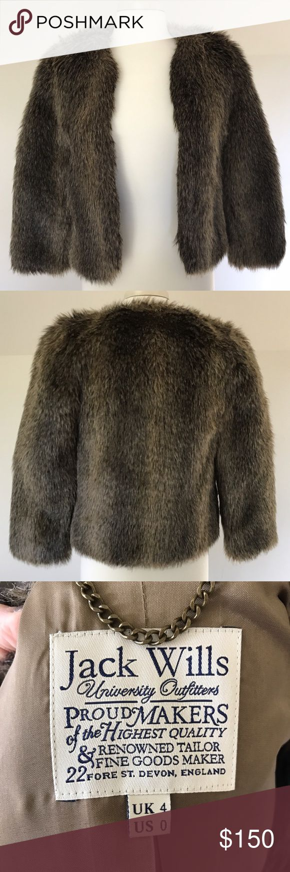 NEW Jack Wills fur coat High quality fur coat never worn. A classic piece that adds the perfect touch to any cold weather outfit. Jack Wills Jackets & Coats