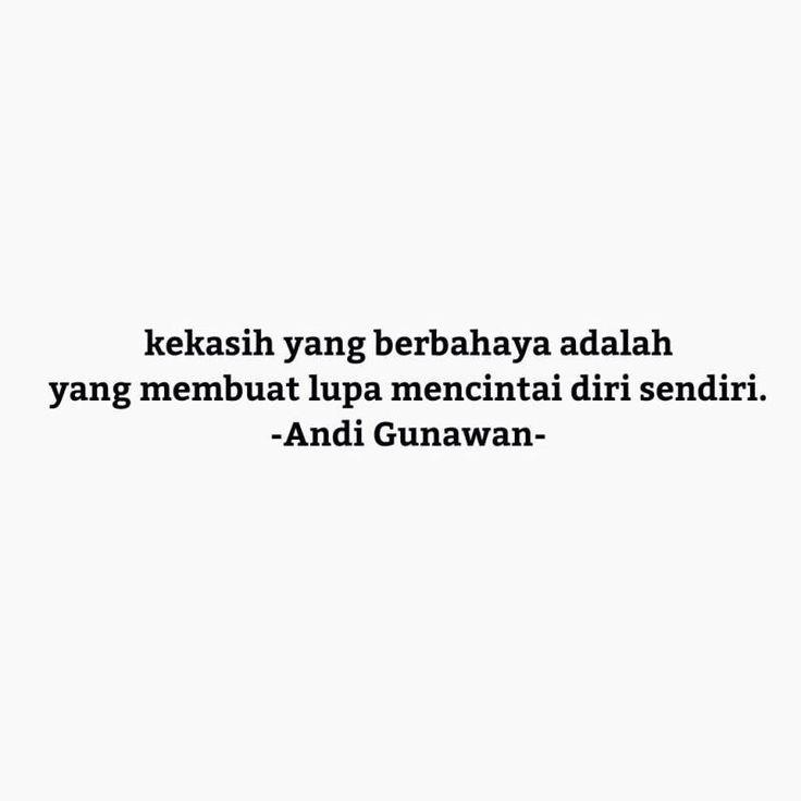 Lupa cinta diri sendiri