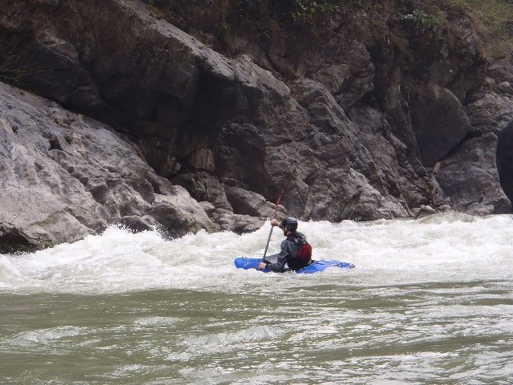 Now you've mastered the flat water it's time to take you down some rapids. This is on the Trisuli river in Nepal www.grgadventurekayaking.com