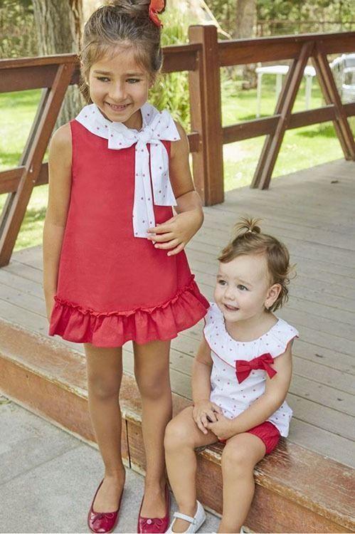 d25ef626b Cam.marinera niño bb ddt   Girls fashion...   Vestidos rojos para ...