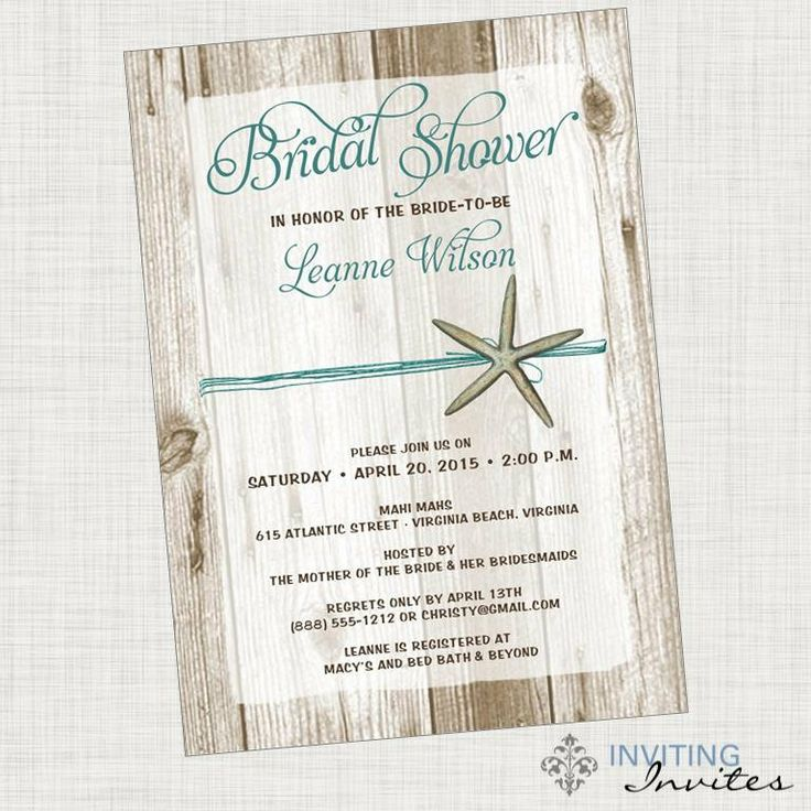 Best 25 beach bridal showers ideas on pinterest beach for Mason jar beach wedding invitations