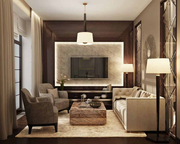 MarchenkoPazyuk Design Small luxury apartment design Living room