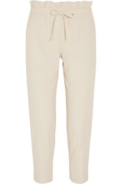 HATCH HATCH - COTTON-BLEND TAPERED PANTS - IVORY. #hatch #cloth #